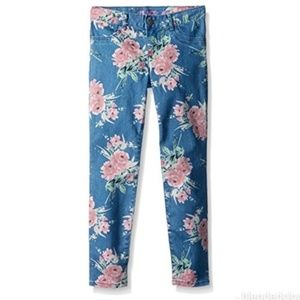 Children's Place Floral Denim Jeggings